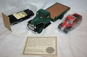 Die Cast 1941 Chevy Flatbed truck & Plymouth Pickup 1959 Crysler 300C