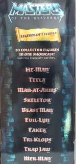 HE MAN MOTU TEN PACK LEGENDS OF ETERNIA SHOWCASE LIMITED EDITION MINT
