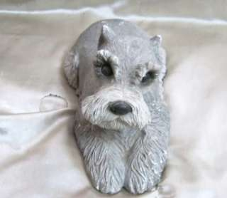 SANDICAST SCULPTURE HAND PAINTED SIGNED SCHNAUZER DOG