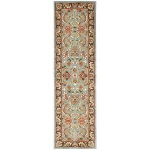 Hand tufted Heritage Blue/Brown Wool Carpet Area Rug 23 x 10 Runner