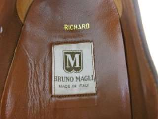 Bruno Magli RICHARD Brown Spectator Monk Strap Loafers Dress Shoes 14