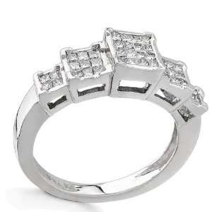 14K White gold 0.5cttw Gorgeous Princess Cut Diamond Ring