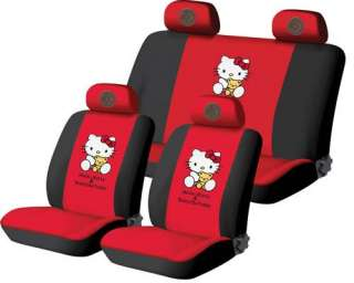 Neu Hello Kitty AUTO Sitzbezüge Schonbezüge 10Teile 009