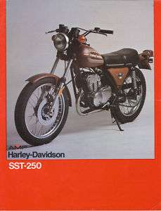 AMF Harley Davidson SST 250 Prospekt 1978 brochure