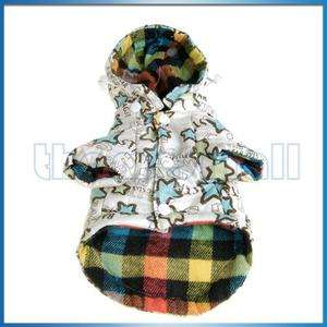 Warm Coat Hoodie Clothes Costume M Cream for Dog Pet