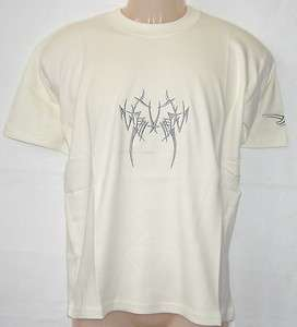 Ausverkauf * bestickt * T shirt mit Tribal ( Zahn) Motiv , farbe bej