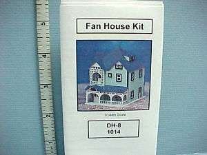 Fan House 1/144th Scale Kit #DH8 Dollhouse Miniature