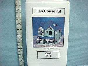Fan House 1/144th Scale Kit #DH8 Dollhouse Miniature