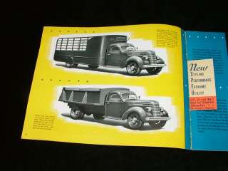1937 International Model Model D 40 Truck Brochure