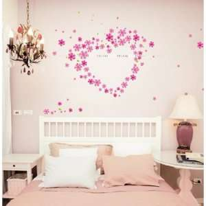 Decoration Wall Sticker Decal   DIY Pink Plowers