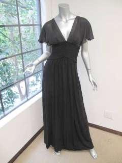 NWT *THIS SEASON* BCBG Max Azria Black Lace Back V Neck Maxi Liz Dress