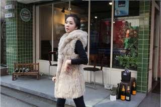 USD J103 New Korean Women Faux Fur Warm Vest Jacket Top Winterwear 2