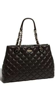 NEW KATE SPADE Gold Coast MARYANNE QUILTED Bittersweet black Leather