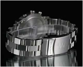 MENS RAYMOND WEIL W1 8000 CHRONOGRAPH STAINLESS STEEL WRIST WATCH