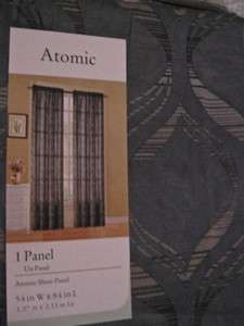 Window Panel Slate Blue/Gray Curtain Burn Out 1~>6 Duck River