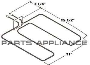 Stove Oven Range Broil Element 5303051140 fits Tappan