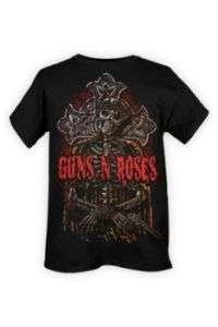 Guns N Roses Skeleton Cross T Shirt
