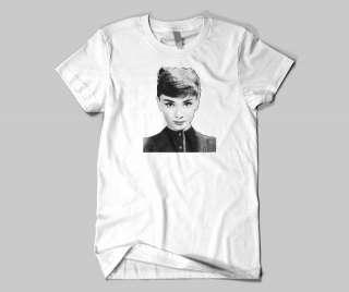 Audrey Hepburn Classic Black and White Headshot T Shirt