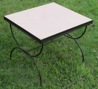 Fab 50s Retro Vintage Pink Formica Coffee End Table |