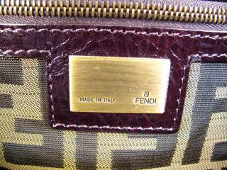 NEW AUTH. FENDI Wool Borsa Pillow XL Handbag Tote Bag