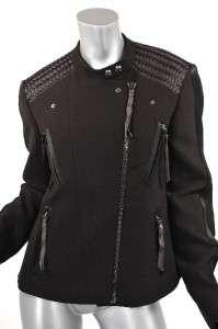 Viktor & Rolf Black Microfiber Motorcycle inspired jacket is really