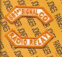 8th Army KOREA 581st SIGNAL CO RADIO RELAY tab patch