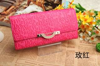 women long purse clutch wallet bags PU handbag with chain gift