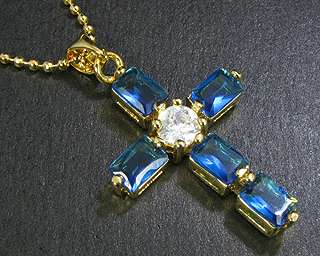 4mmx6mm Emerald Cut Blue Sapphire Pendant Free Necklace