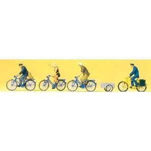Radfahrer, Fahrradanhänger, Modellauto, Fertigmodell, Preiser 187