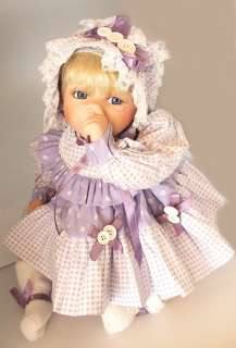 BUTTON & BOWS PORCELAIN BABY DOLL THUMB SUCKER #464 TINA BERRY
