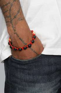 Pangea Life Essentials The Matte Onyx Gold Bracelet in Red  Karmaloop