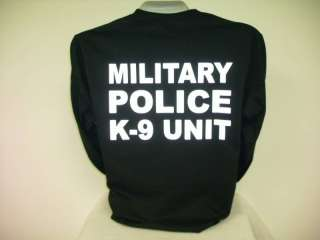 Reflective Military Police K 9 Unit, L/S T Shirt,,,,XXL