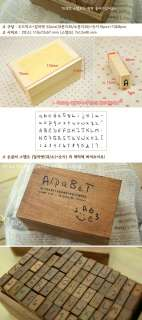 Funnyman] Big&Small&Number Alphabet Rubber Stamp Set |