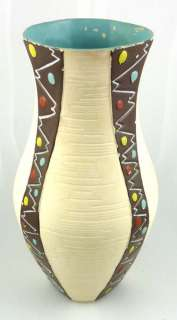 Vintage Brentleigh Ware Galicia Art Pottery Vase England Hand Painted