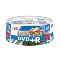 JVC VP R47HPS25 DVD+R Spindle   16X, 25 Pack, Photo White, Inkjet