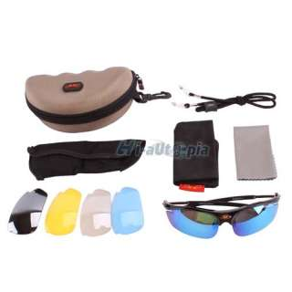 New Bike Bicycle Cycling Sports Riding Sun Glasses Goggles Pearl Black