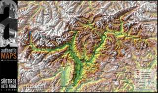 authentic MAP Südtirol / Alto Adige, 3D Landkarte