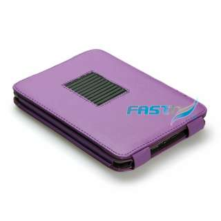 PREMIUM PURPLE PU LEATHER FLIP CASE COVER FOR KINDLE TOUCH WITH SLIM