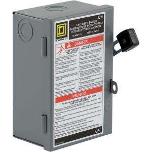 Square D by Schneider Electric 30 Amp 240 Volt Two Pole Indoor Light