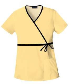 Cherokee Womens 2627 Mock Wrap Top Many Colors Many Sizes NWT