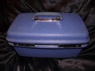 Vintage Samsonite Concord Train Case Royal Blue