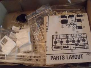 MODEL KIT UNBUILT PARTS SEALED IN BAGS. 1/25 SCALE BOX HAS SOME LIGHT