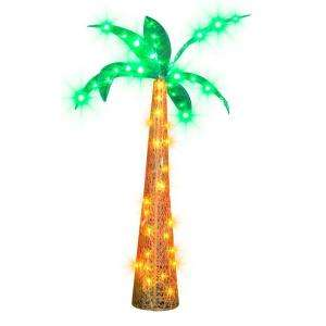 72 in. Ice Sculpture Palm Tree 70 Ct. LED Lights 40053 at The Home