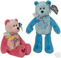 Its a Boy/Girl Bear   Welcome Baby   Limited Treasures