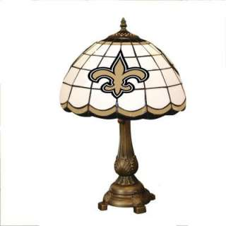 Saints Stained Glass Tiffany Table Lamp NFL NOS 500