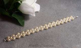 BEADING KIT Make your own Ivory Pearl & Silver Bracelet