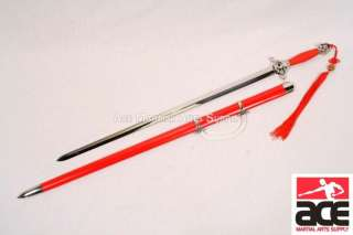 Red Master Chinese Tai Chi Practice Sword New