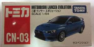 TOMY TOMICA CN 03 MITSUBISHI LANCER EVOLUTION 1 64