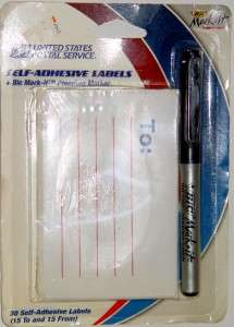United States Postal Service Self Adhesive Shipping Labels With Bic