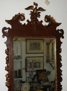 Vintage American Chippendale Style Designer Mirror NR